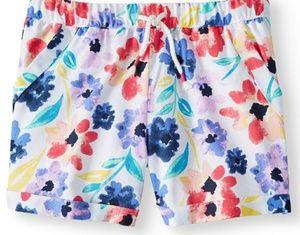NWT - Girls Printed Pull-on Shorts. XL 14/16